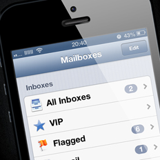 iPhone 5 Mail app